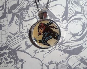 """1"""" Black Widow necklace"""