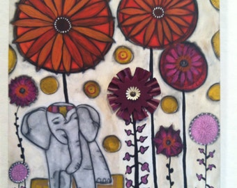 Elephant in the Room - blank note card
