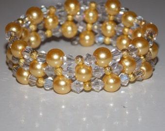 Girls Golden Stardust Wrap Bracelet