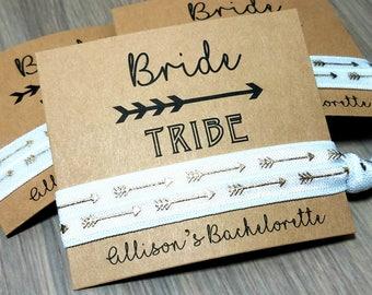 Bride Tribe Hair Tie Favors | Bachelorette Party Favors | Bridesmaid Gifts and Favors | Gifts and Momentos | Bachelorette Party Hair Ties