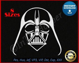 Star Wars DARTH VADER EMBROIDERY Designs Pes, Hus, Jef, Dst, Exp, Jef+, Vip, Vp3, Xxx