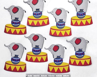 Circus Elephant Cut Outs - Circus Theme Party Die Cuts - Circus Centerpieces - Circus Elephant - Carnival Elephant