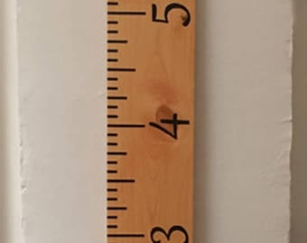 Hand-painted growth chart