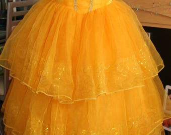 Beauty and the beast Live Movie 2017 Belle dress costume ballgown and hooped petticoat Emma Watson uk 10 - 12