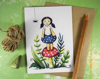 Muffet Recycled Blank Greeting Card