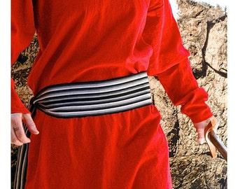 Pin Stripe Grey, Black and White Sash SA20 SA37 - Pirate Belt - Renaissance Gypsy Clothing - Pirate Costume Accessories - Guatemalan Fabric