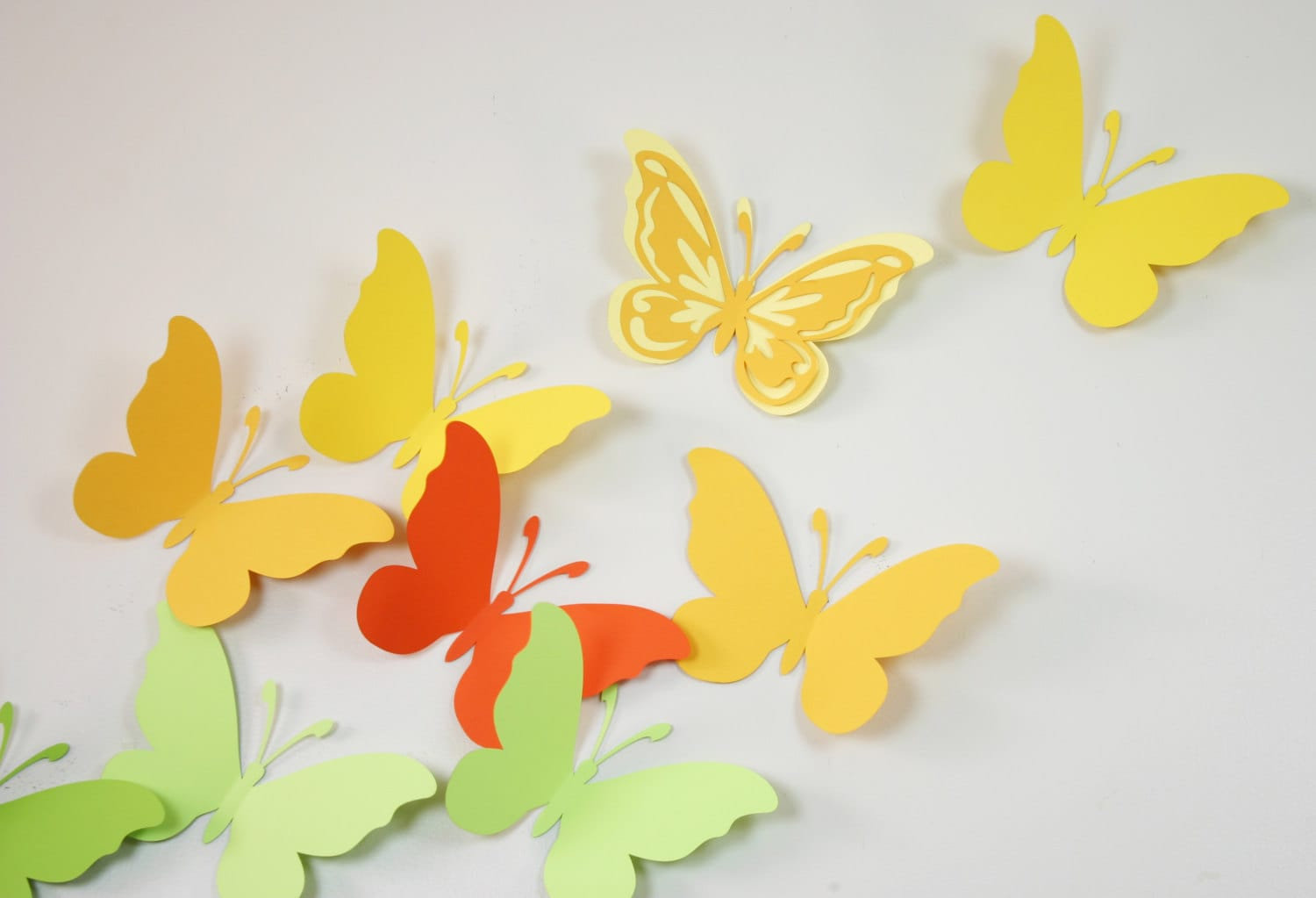 Beautiful How To Make A Butterfly Wall Decoration Gift - Wall Art ...