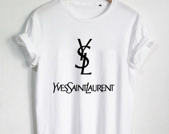 ysl tshirt etsy. Black Bedroom Furniture Sets. Home Design Ideas