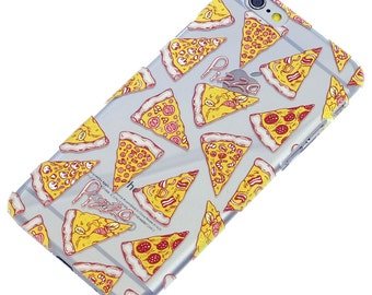 iPhone Case-Pizza Pizza Assorted Pattern Transparent Clear Phone Case iPhone 6-iphone 7-iphone 5-iphone Se-iphone 6 plus-iphone 7 plus-note