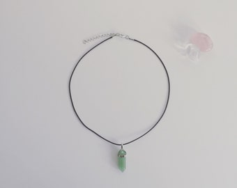 Green Aventurine Crystal Necklace