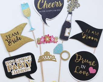 CUSTOM Photo Booth PROPS | Photo Props for WEDDINGS