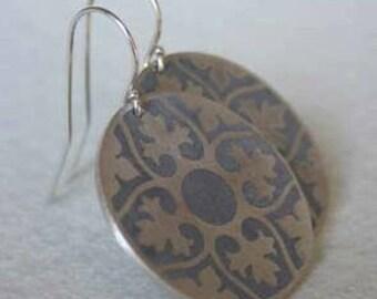 Praline Silver & Concrete earrings