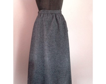 Vintage  Charcoal Gray Wool Skirt