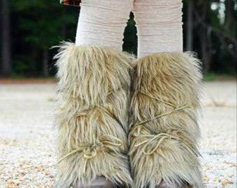 Finley boot cuffs .. Pink PomPon - Fur boot cuffs, boho boots, gypsy boots, toddler fur boots, girl's fur boots, baby fur boots, brown fur