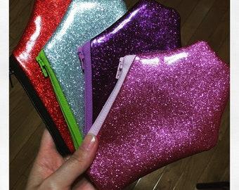 Glitter coffin coin purses, coin pouch, zipper purse, coffin purse