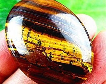 100% Natural Brown Tiger Eye Oval Cabochon Pendant Size 40x30x7 mm. 70.30 Cts.