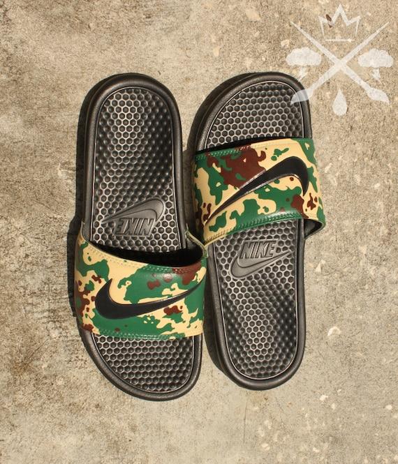 Nike Custom Military Camouflage Benassi Swoosh Camo Slide