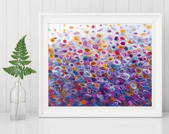 Purple Abstract Art - Purple Abstract Printable - Purple Abstract Painting Print - Abstract Circle Painting - Abstract Art Print 8x10 11x14