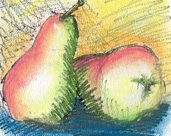 Pears, a study in Pastel