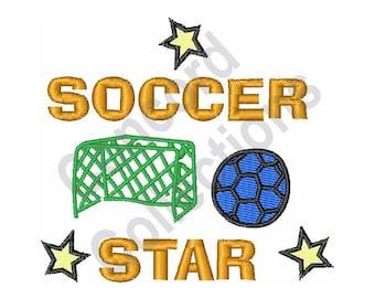 Soccer Star - Machine Embroidery Design