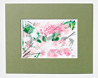 Original Acrylic Abstract Painting On Paper