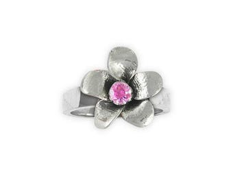 Cherry Blossom Ring Jewelry Sterling Silver Handmade Flower Ring CBB1-SR