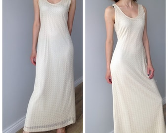 90s knitted lace dress