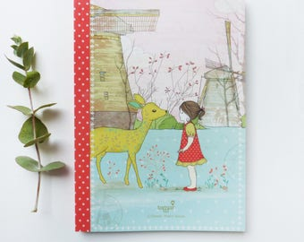 100 pages Notebook - Bambi Girl