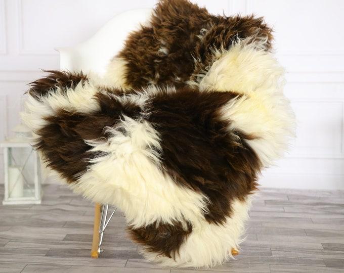 Sheepskin Rug | Real Sheepskin Rug | Shaggy Rug | Chair Cover | Sheepskin Throw | Brown Beige Sheepskin | Home Decor | #Apriher30