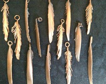 Copper feathers
