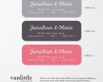 personalized return address labels custom self adhesive