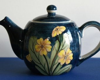 Vintage Hand Painted Teapot, with Primroses