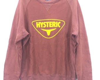Vintage!!! Hysteric Glamour Sweatshirt Big Logo Sweater Meroon Colour