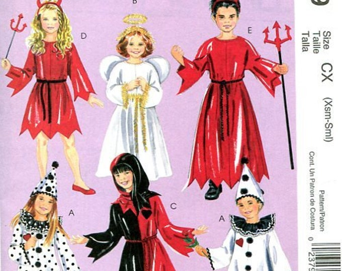FREE US SHIP McCall's 5729 Childs Costume Devil Horns Pitchfork Angel Nativity Jester Clown Halloween Size 7/16 Sewing Pattern New