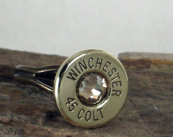 Winchester Colt 45 Bullet Ring - Gold Rush