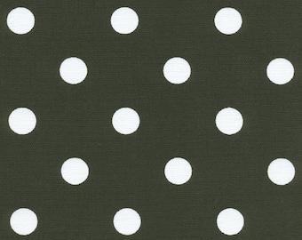 Polka Dots Black White fabric | Home Dec Cotton Twill fabric | Premier Prints