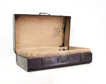Beautiful Antique Chinese Pigskin Suitcase