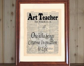 Art Teacher Dictionary Print, Art Teacher Quote, Art Teacher Gift, Art Teacher Print, Art Classroom Decor, Art Teacher Appreciation