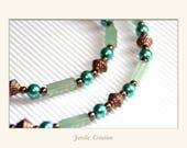 Long Emerald Pearl neckla...