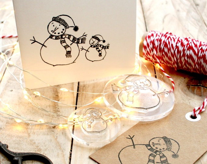 Snowman Rubber Stamp - Snowmen Clear Stamp - Christmas Snowman Stamp - Snowmen - Snowman - Card Making Snowmen Stamps - Sticky Stamps