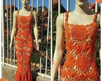 Crochet Dress, Crochet , sexy crochet boho dress, designer crochet dress .Fashion crochet dress