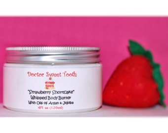 Strawberry Shortcake Whipped Body Butter with Argan & Jojoba Oil