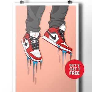 Nike Air Jordan sneaker poster / wall art / nike trainer / dope art / street