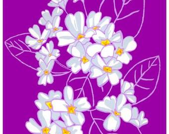 February Primrose: Flower print 8x10