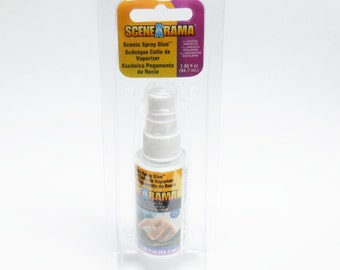 Scene-A-Rama Spray Adhesive for dioramas and landscaping for Fairy Gardens, Terrariums, Train Models, and other Miniatures