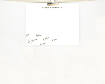 """Personal Stationery Set (25) •""""Paper Planes"""""""