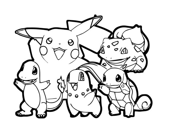 Pokemon para colorear black and white dresses