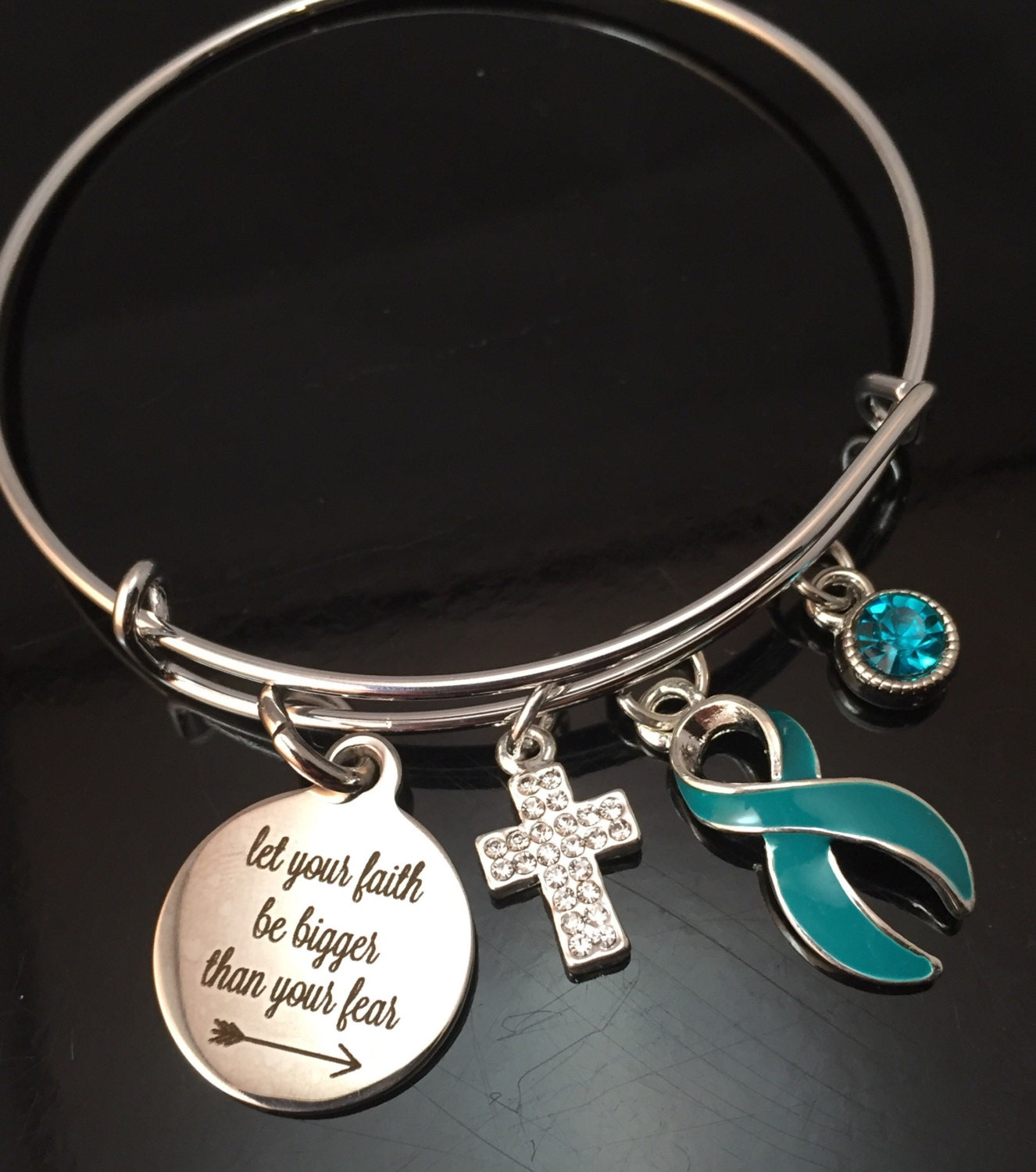 necklace pin gravis or teal ribbon pots ovarian cancer refuse bracelet to sink myasthenia