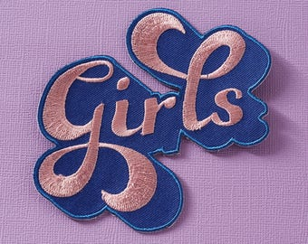 Girls Embroidered Iron On Patch // Feminist Patch, Patchgame
