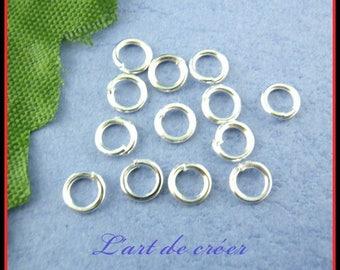 1200 Silver 5mm open jump rings